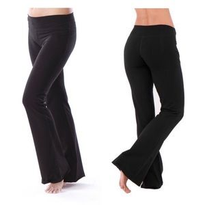 300355e3a668b4 Green Apple Yoga Essential Relax Fit Flare Pant